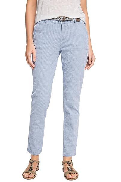 eab759f5f0885 Esprit Chino Slim - Pantalones Mujer, (Light Blue 440), 34/L30 ...