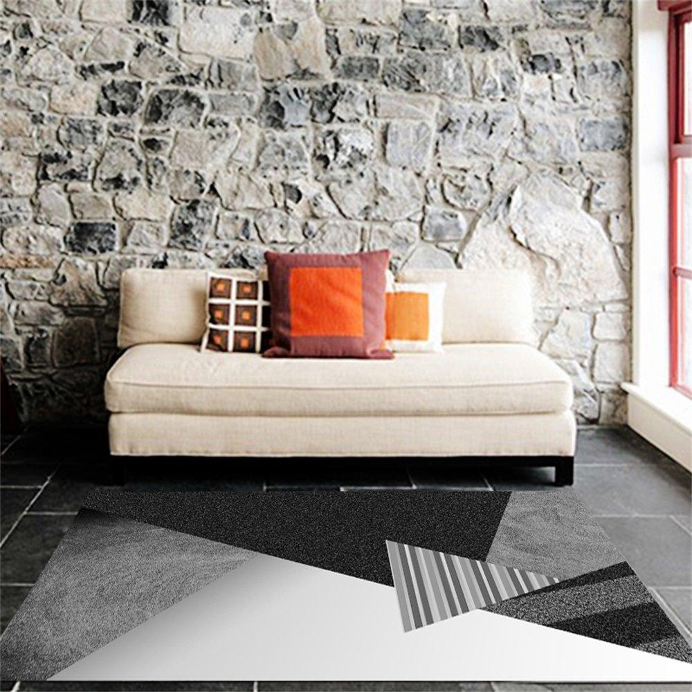 Couleur : A, taille : 80cm/×120cm QXJPZ Tapis de style nordique pour salon salle /à manger et chambre /à coucher Canap/é-lit moderne Tapis rectangulaire /à poils courts avec 9 couleurs et 5 tailles