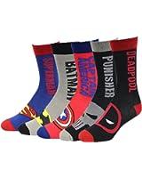 Mens Cashmere Feel Hero-Theme Dress Socks 5 Pack 8-13,Multicolor