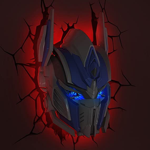 Transformers Optimus Prime 3D Deco Wall Light Room LED Nightlight Toy Kids