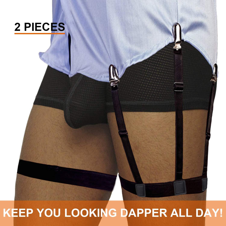 Shirt Stays for Man Adjustable Shirt Garter Suspender Belts for Police Military