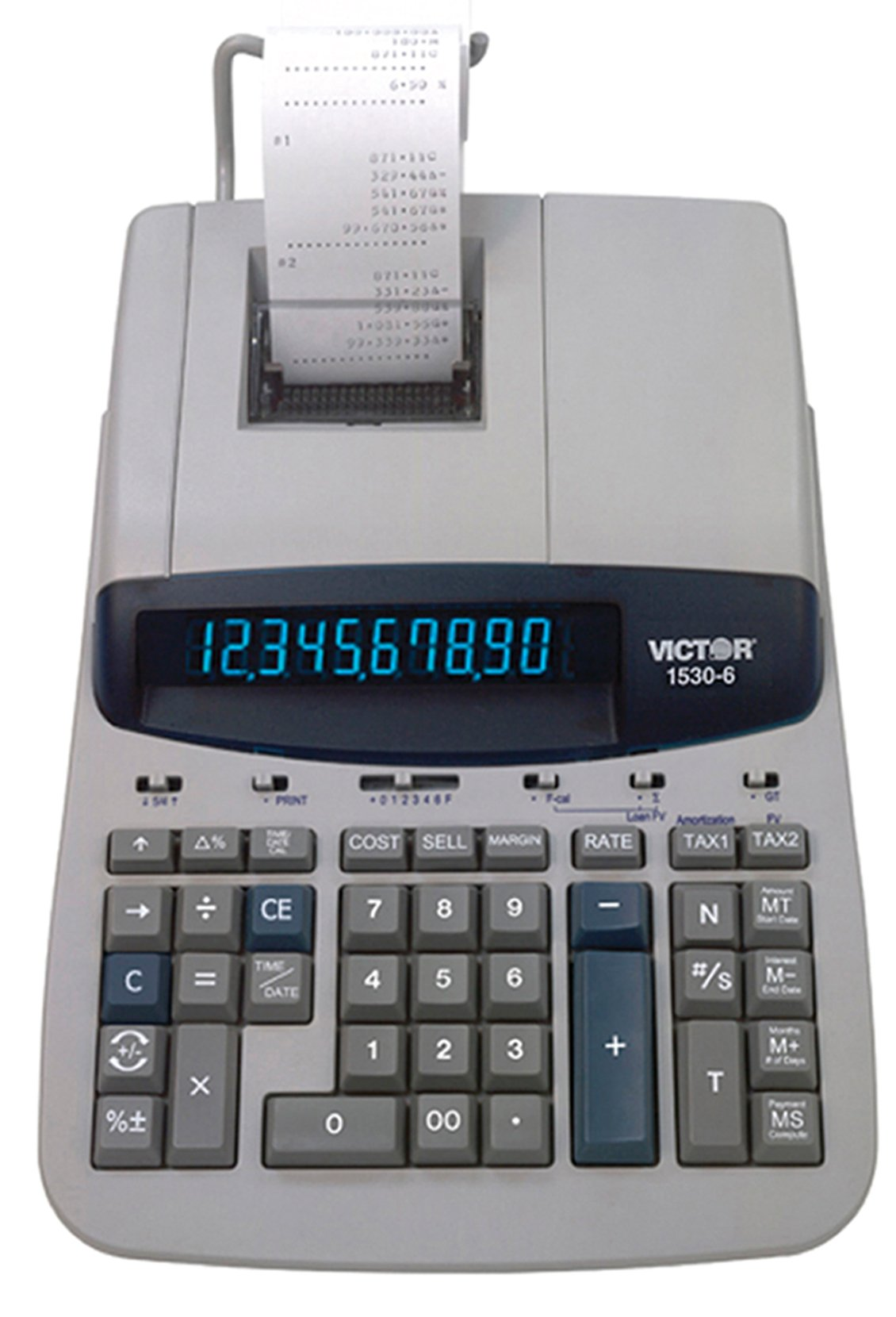 Victor 1530-6 10 Digit Professional Grade Heavy Duty Commercial Printing Calculator with Large Display and Loan Wizard by Victor