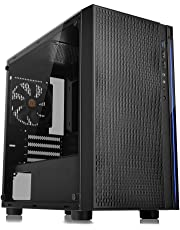 Thermaltake Versa H18 Tempered Glass Black SPCC Micro ATX Gaming Computer Case