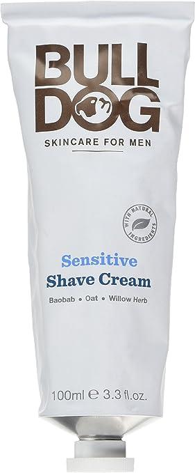 BullDog sensible crema afeitado para hombres, 100 ml, pack de 4: Amazon.es: Salud y cuidado personal