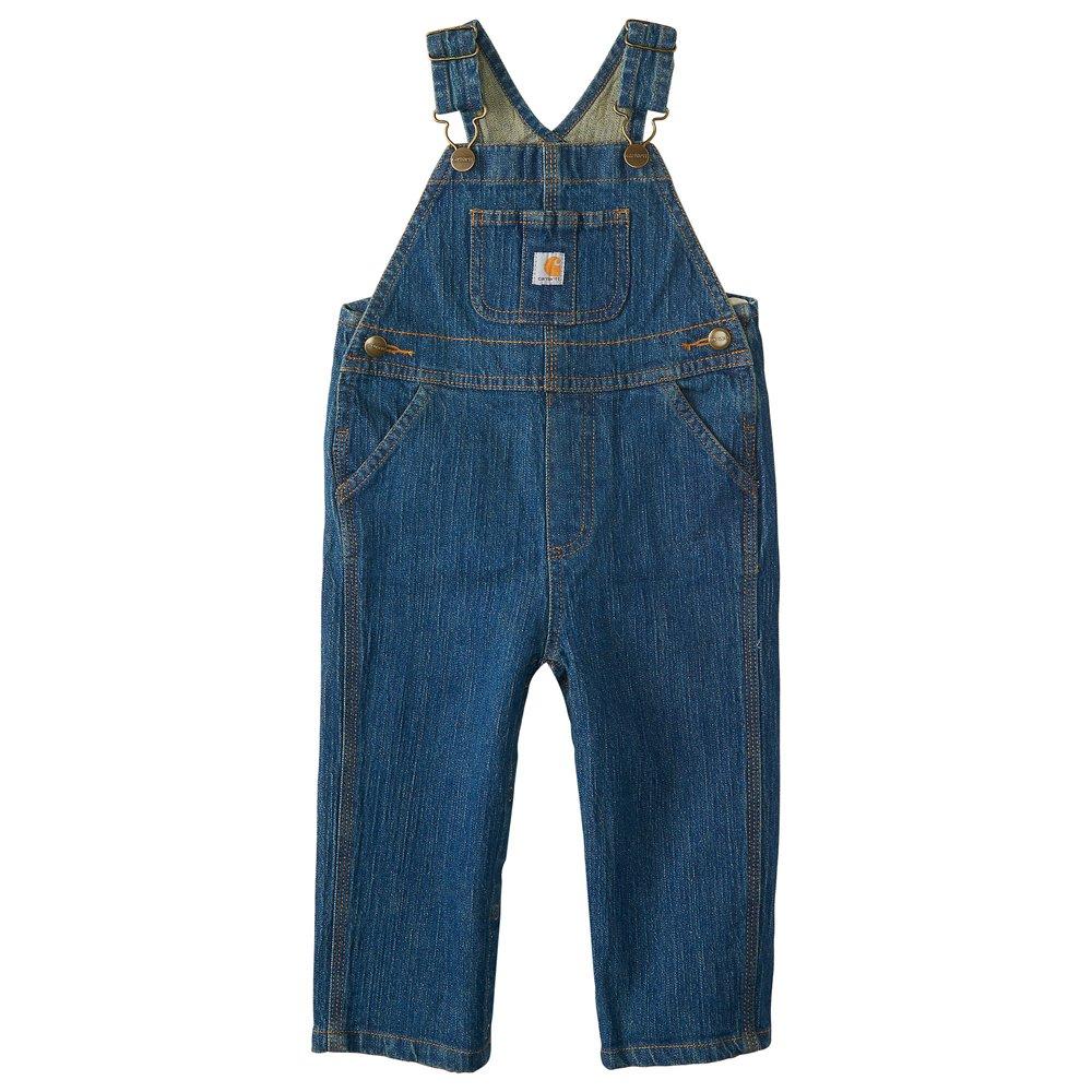 Carhartt Kid's CM8665 Washed Denim Bib Overall - Boys - 3 Toddler - Medium Wash