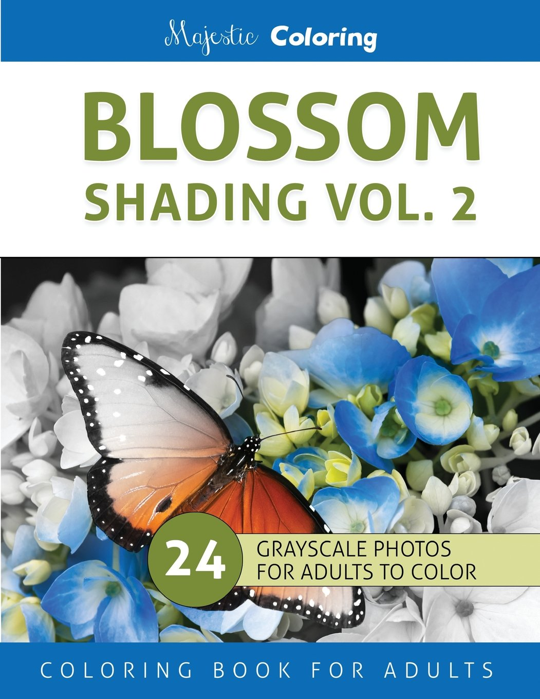 Blossom Shading Vol. 2: Stress Relieving Grayscale Photo Coloring for Adults