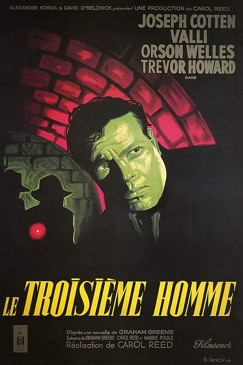 American Gift Services - Le Troisieme Homme The Third Man Orson Welles French Vintage Movie Poster - 11x17