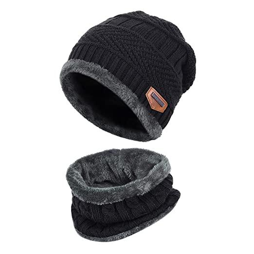 a9791cc1de3d86 Image Unavailable. Image not available for. Color: Fantastic Zone 2-Pieces  Winter Beanie Hat Scarf ...
