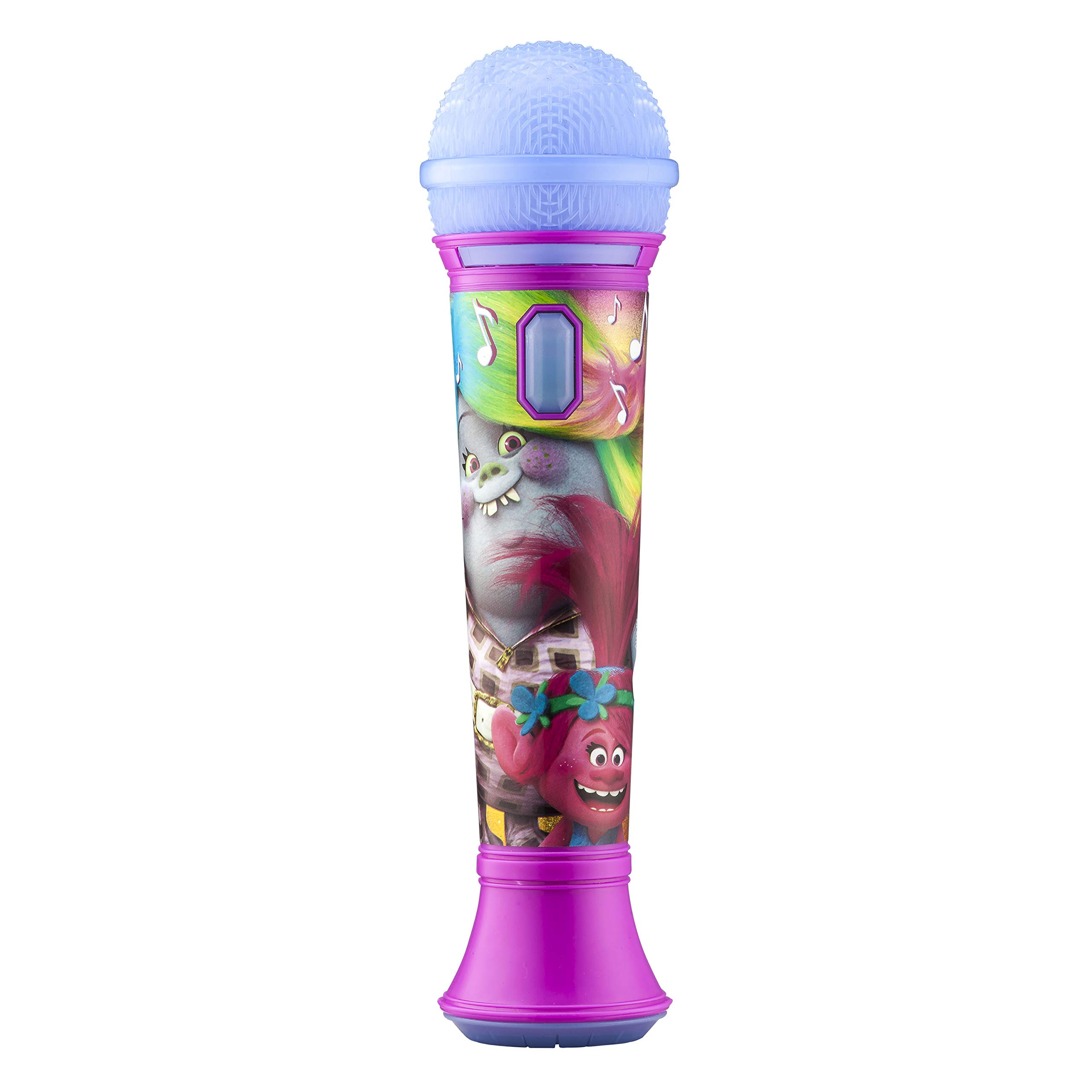Trolls Sing Along MP3 Microphone Sing to Built in Music or Connect Your Audio Device and Sing to Whatever You Like by eKids (Image #1)