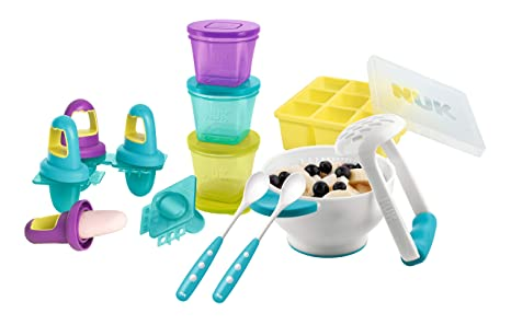 NUK 10225112 - Juego de recipientes para preparar y conservar comida (1 set para puré