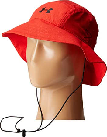 b26ffe2adf4 Under Armour Men s UA Airvent Bucket Hat Red Black Hat  Amazon.com ...