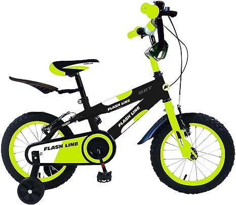 Bicicleta para niños FLASH LINE talla 12 FLA 12 para niños de 2 a 5 años - Verde: Amazon.es: Deportes y aire libre