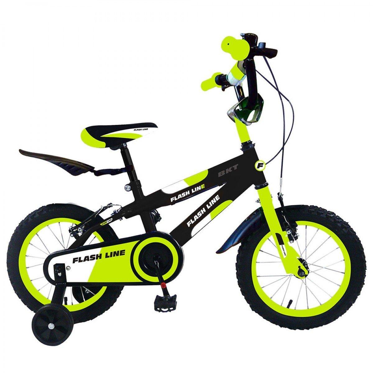 mejor oferta Bicicleta para para para niños FLASH LINE talla 16 FLA16 para niños de 4 - 7 años - Amarillo  comprar barato