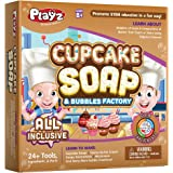 Playz Cupcake Soap & Bubbles DIY Science Kit - Fun STEM Gift for Age 8, 9, 10, 11, 12 Year Old Girls and Boys…