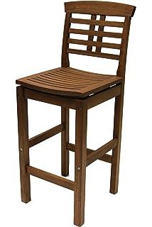 Outdoor Interiors 10030 Eucalyptus Hi Back Bar Chair