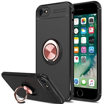 SORAKA Funda iPhone 6, Funda iPhone 6S,Soporte rotación de 360 Grados, Carcasa de TPU Delgada y Compatible con Soporte magnético para Coche