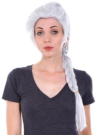 Amazon.com  Women s Frozen Elsa Adult Costume Wigs for Halloween ... b64eb8b3d