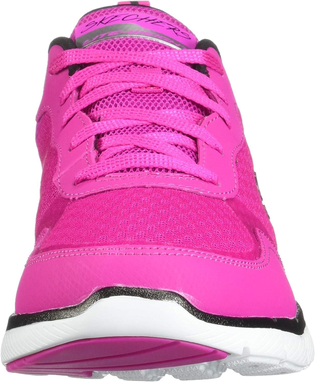 Skechers Damen Flex Appeal 3.0 – Go Forward, Training, Hot Pink, Schwarz, US M