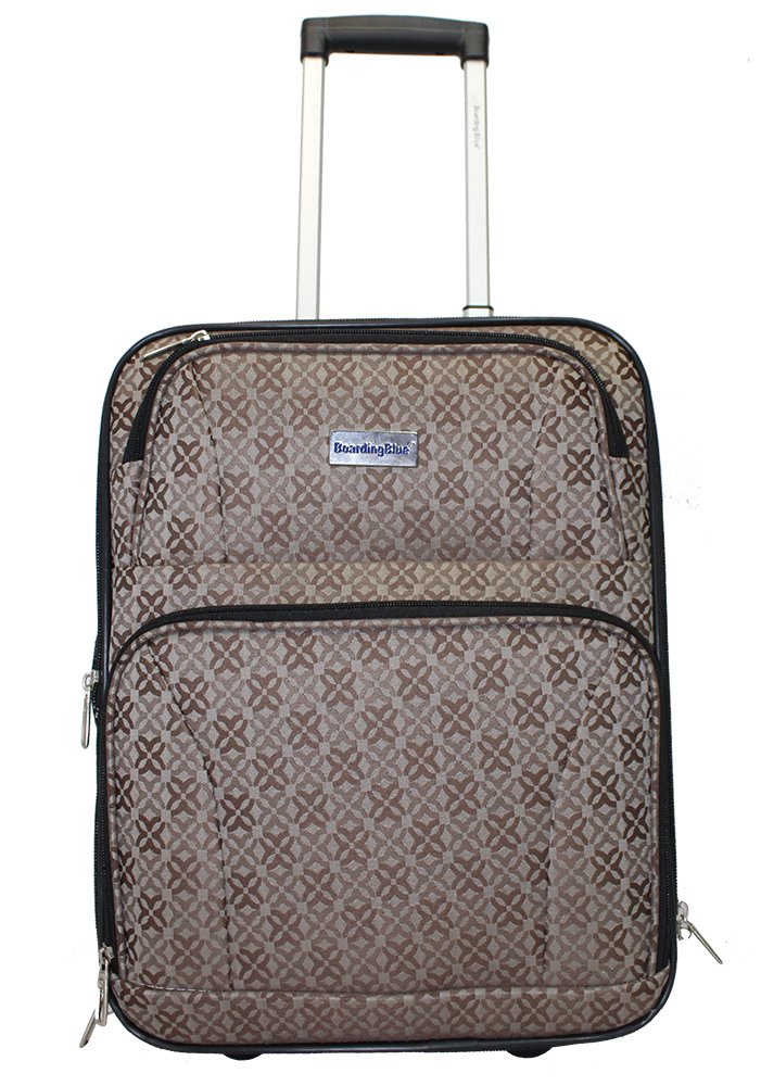BoardingBlue New American Airlines Rolling Personal Item Luggage Under Seat (brown)