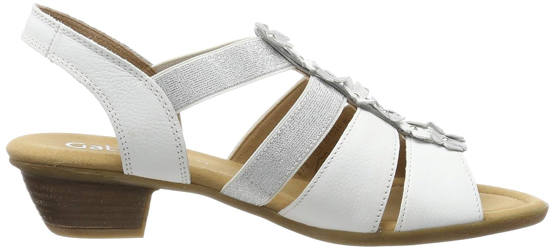 Gabor Shoes Comfort Sport Sandali con Cinturino alla Caviglia Donna 38 EU Bianco Weiss//Silber 50