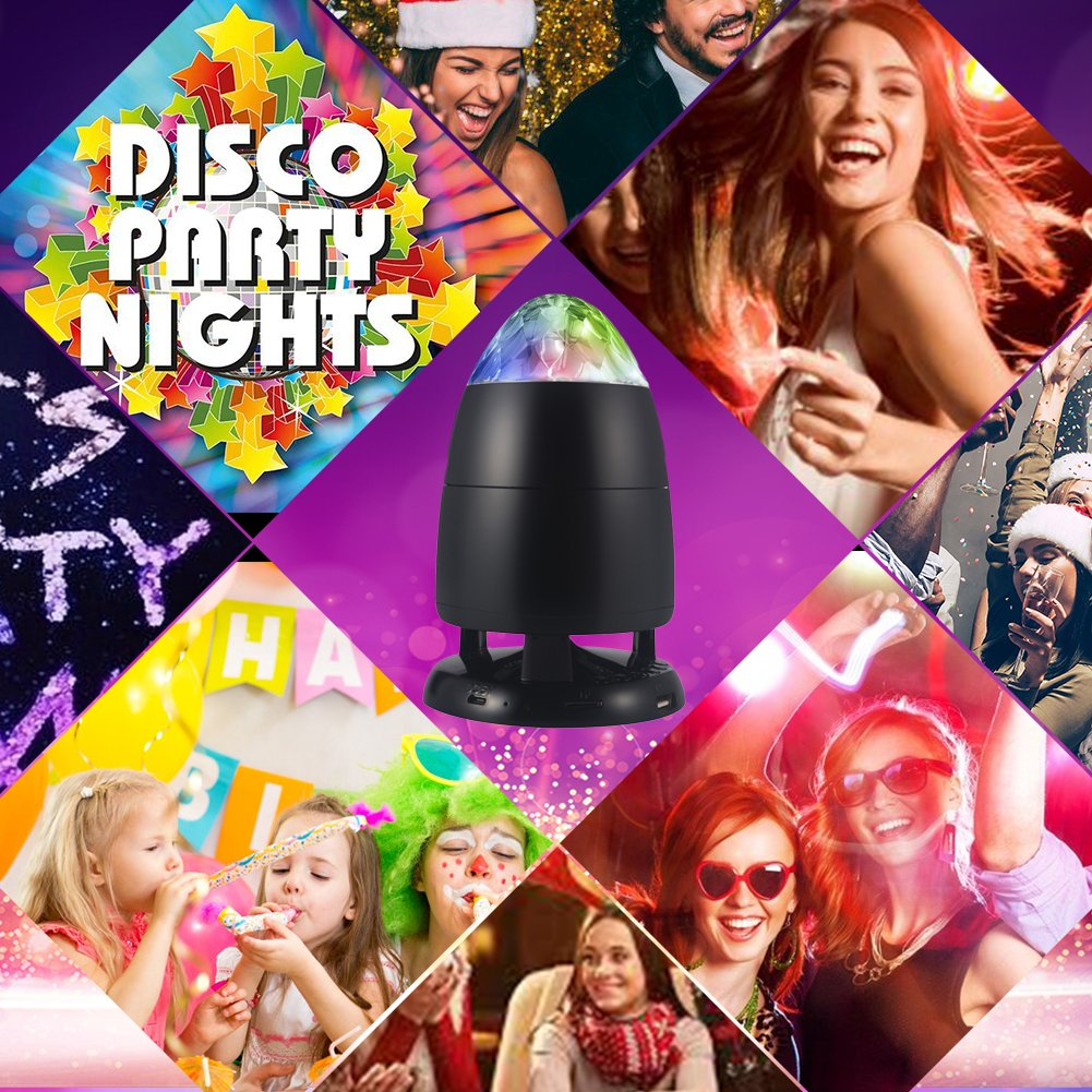 Disco Ball Bluetooth Speakers, Portable Wireless Speakers Party Strobe Lights Sound Activated, Rotating Music DJ Stage Lights Party Favors for Kids Gifts Birthday by funkysky