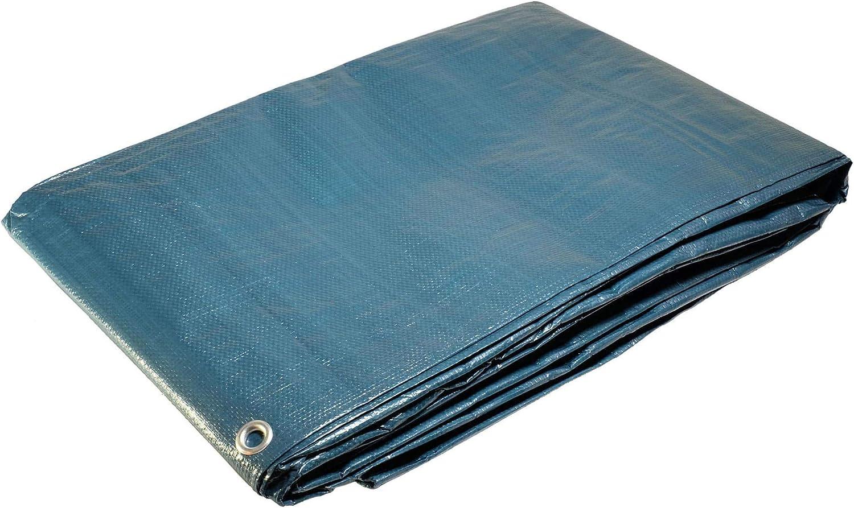 Lona para piscina rectangular de 6x 10m con red de salida central. Protector de piscina. Lona impermeable.