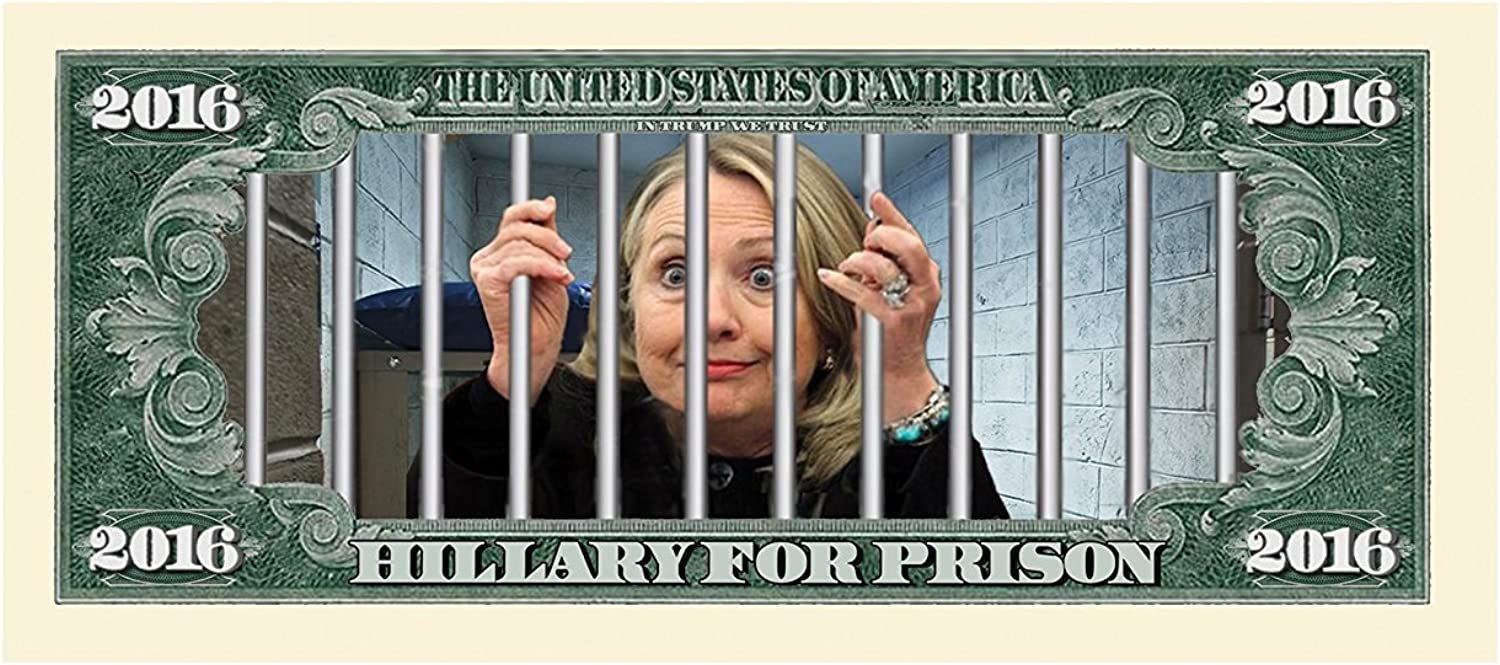 Funn Hillary For Prison 2016 Dollar Bill Highly Collectible Novelty Set of 5
