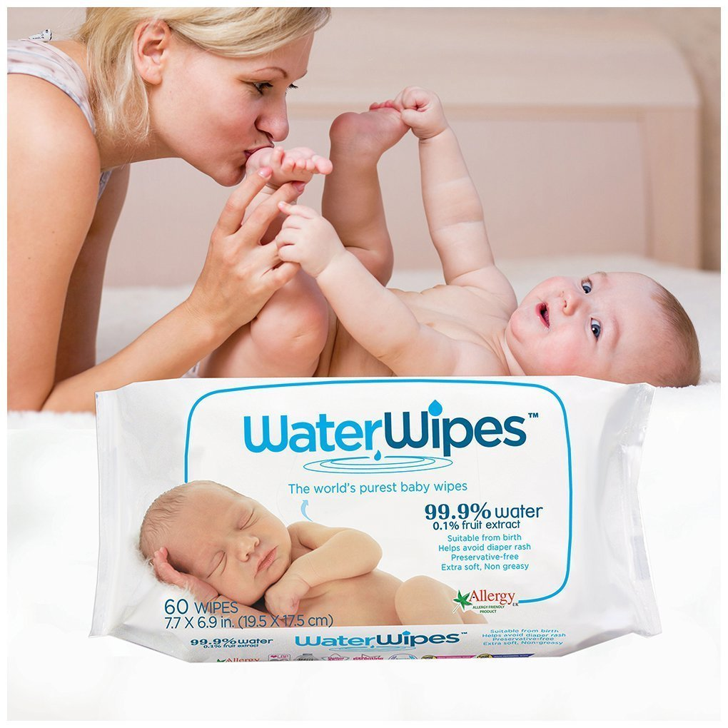 DermaH2O WaterWipes Wipes Pack of 9 60 Count