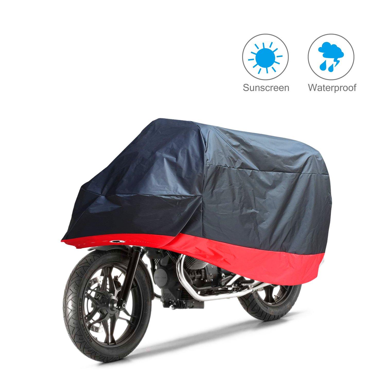 Parapioggia Paravento 190T Anti UV per Moto Motorino Motociletta Scooter XXL 265*105*125cm Aoafun Telo Coprimoto Impermeabile Universale