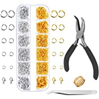Anezus Jump Rings for Jewelry Making Supplies and Necklace Repair with Jump Ring Pliers and Open Jump Ring(1200Pcs Silver and Gold)Anezus Jump Rings for Jewelry Making Supplies and Necklace Repair wit