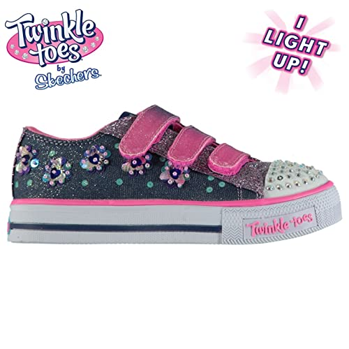 SKECHERS KINDER MÄDCHEN Twinkle Toes Shuffles Turnschuhe