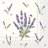 Celebrate the Home - Servilletas de papel de 3 capas, diseño floral de lavanda, 20 unidades