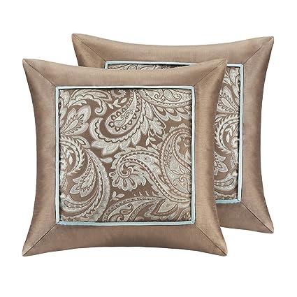 Amazon Madison Park Aubrey Jacquard Fashion Accent Throw Pillow Beauteous Madison Square Decorative Pillow