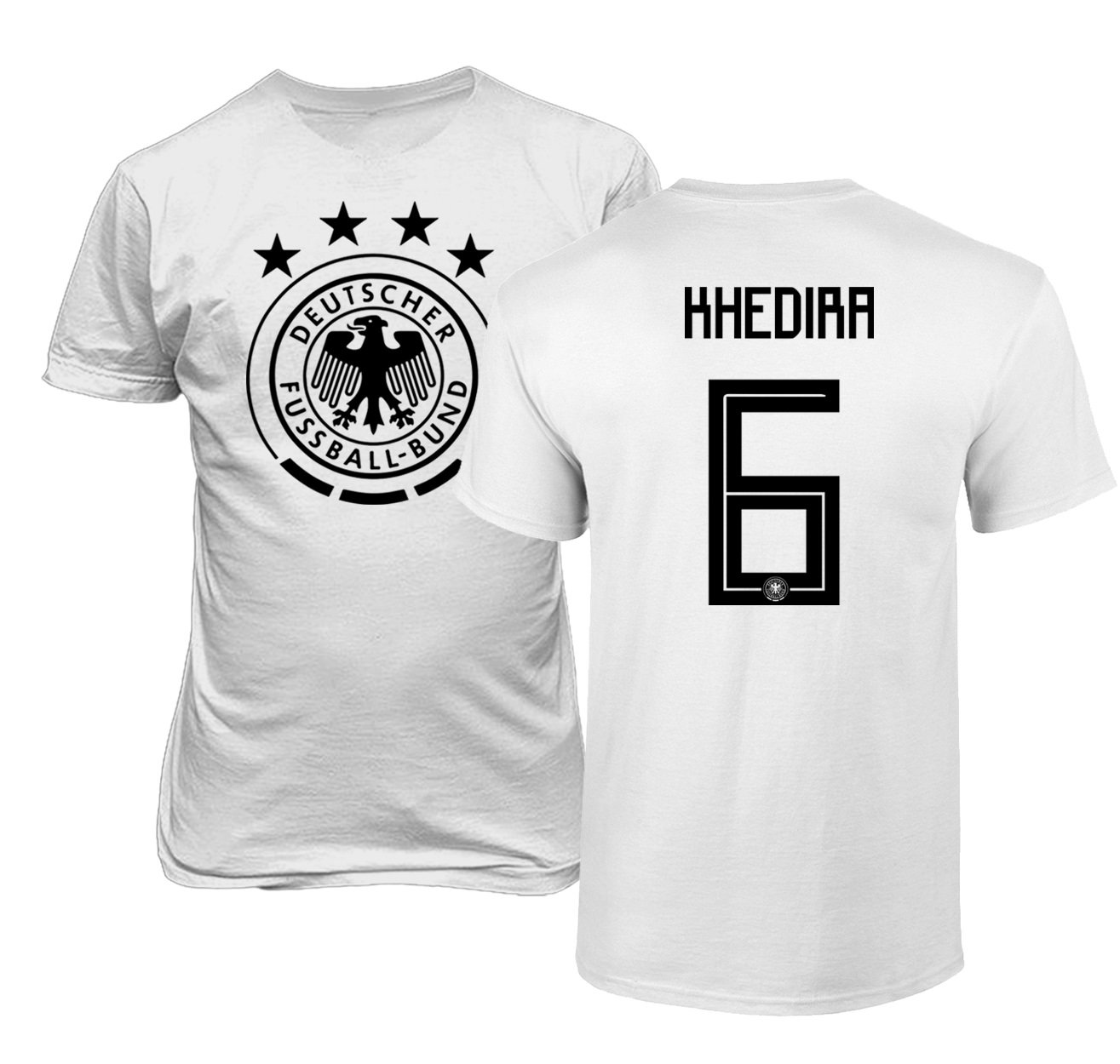 2af0584242a Amazon.com  Tcamp Germany 2018 National Soccer  6 Sami KHEDIRA World  Championship Men s T-Shirt  Sports   Outdoors
