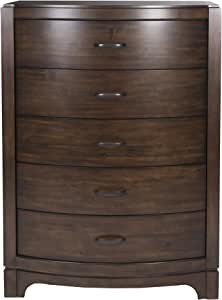 Liberty Furniture Industries Avalon III 5 Drawer Chest, W38 x D19 x H52, Pebble Brown