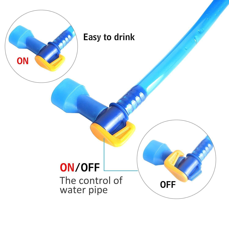 senderismo y camping ciclismo sin sabor y sin BPA 2L Azul aprobado por la FDA Actualizado Unigear Mochila de hidrataci/ón de agua para mochileros