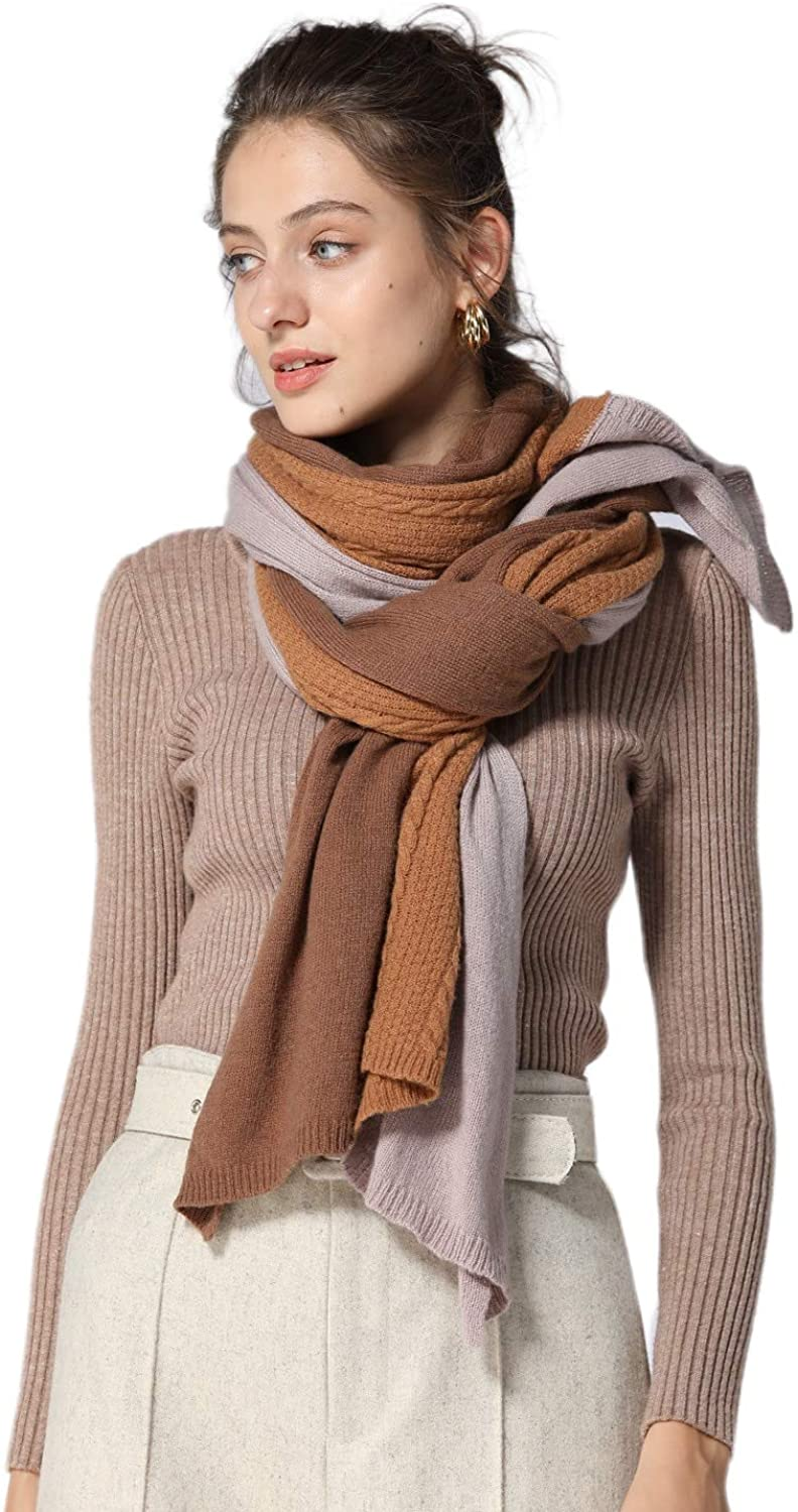 """cashmere Scarf contrast color womens 100/% pure cashmere scarf Wrap Shawl Winter Extra Large(7830/"""""""