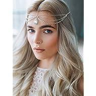 c917b57132e A C Handmade Rhinestones Bridal Wedding Headband and Headpiece Jewelry for  Women