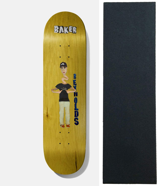 """Baker Skateboard Deck Andrew Reynolds Kazi 8.5"""" x 32"""" with Grip"""