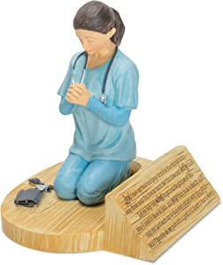 Dicksons Nurse's Prayer, Kneeling in Uniform 4.5 x 5.5 Resin Stone Tabletop Figurine