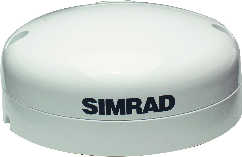 Simrad GPS Antenna - Antena para barcos, color blanco