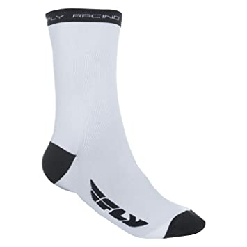 Fly Racing Motocross & Mountain Bike Calcetines Crew Blanco MX & MTB Calcetines, Hombre,
