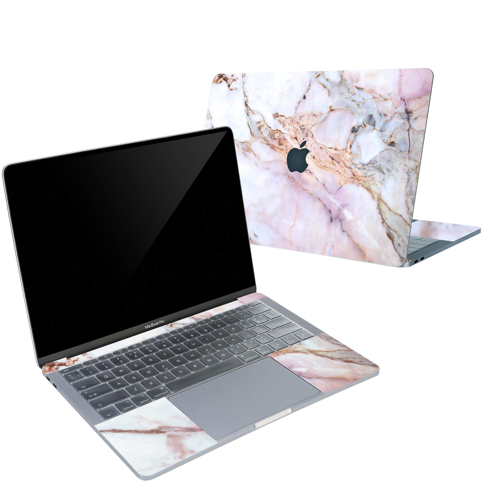 Digi-Tatoo 4-in-1 MacBook Skin Decal Sticker Compatible with Apple MacBook Air 13 Inch 2018 Release (Model A1932), Full Body Protective, Removable and Anti-Scratch, Cracked Marble