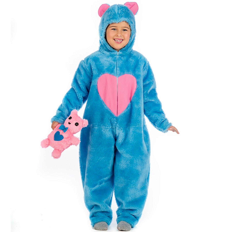 Krause & Sohn Kinder Kostüm Bärchen Misha blau mit. Plüschtier Overall Tierkostüm (7-9 Jahre)