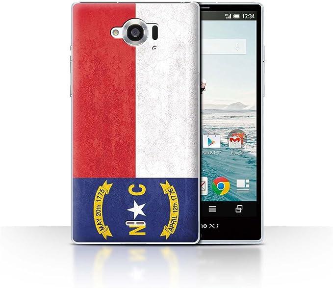 Stuff4® Phone Case/Cover/Skin/SP-CC/Vintage USA State Flag Collection Caroline du Nord Sharp Aquos Zeta SH-01G: Amazon.es: Informática