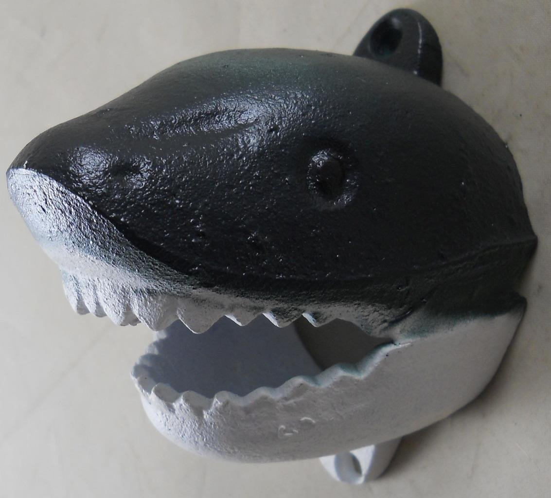 Cast Iron Wall Mounted Shark Bottle Opener