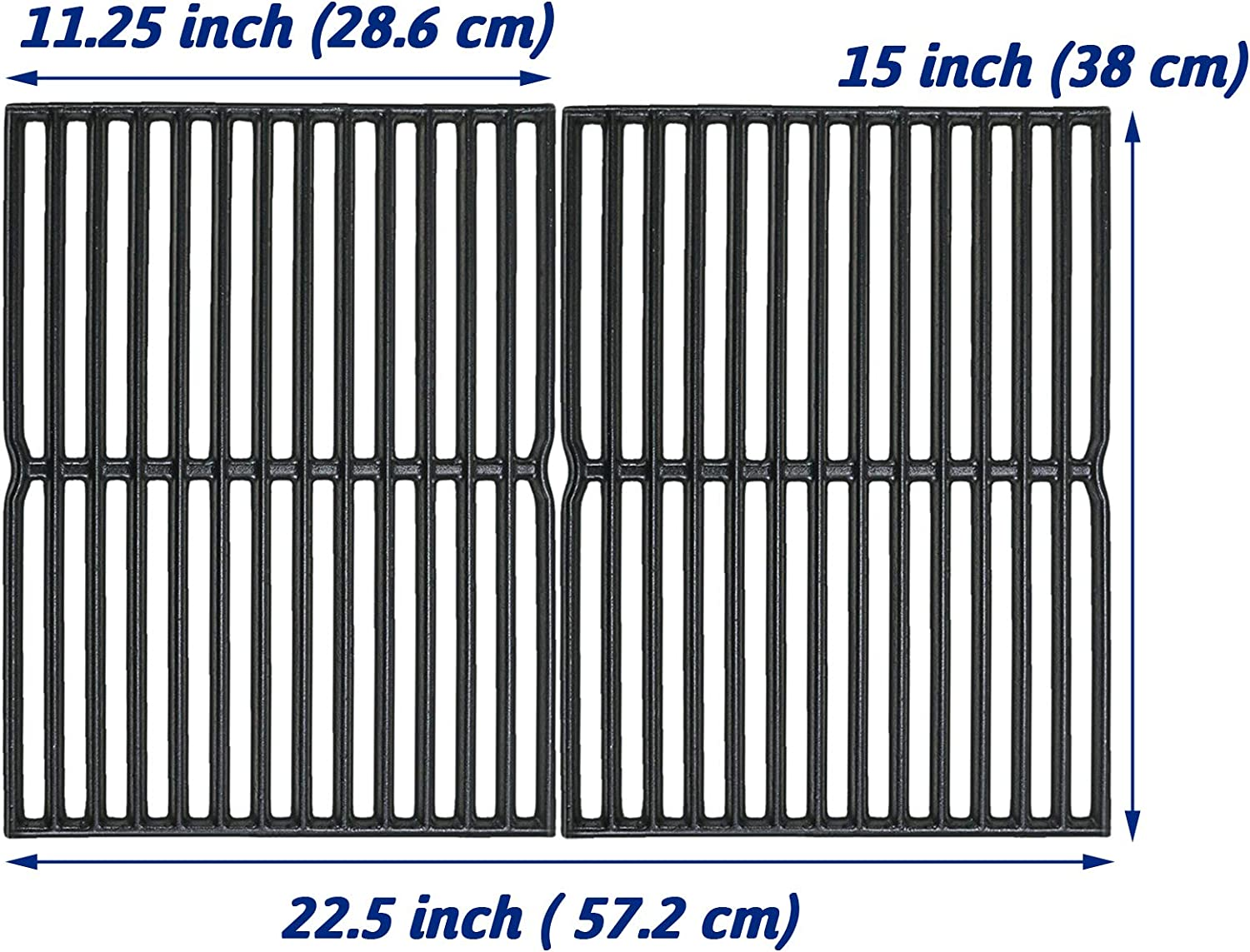 Utheer 7522 Cooking Grid Grate 15 x 11.25 Inch for Weber Spirit 200 210 with Side Control, Spirit 500, Genesis Silver A, Grill Replacement Parts for Weber 7521 7522 7523 65904 65905, Fits Kenmore