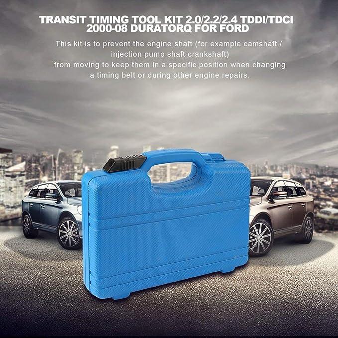 Funnyrunstore Transit Timing Tool Kit 2.0/2.2/2.4 TDdi/TDCi 2000-08 Duratorq para Ford para el ajuste de la herramienta de bloqueo del tiempo del motor ...