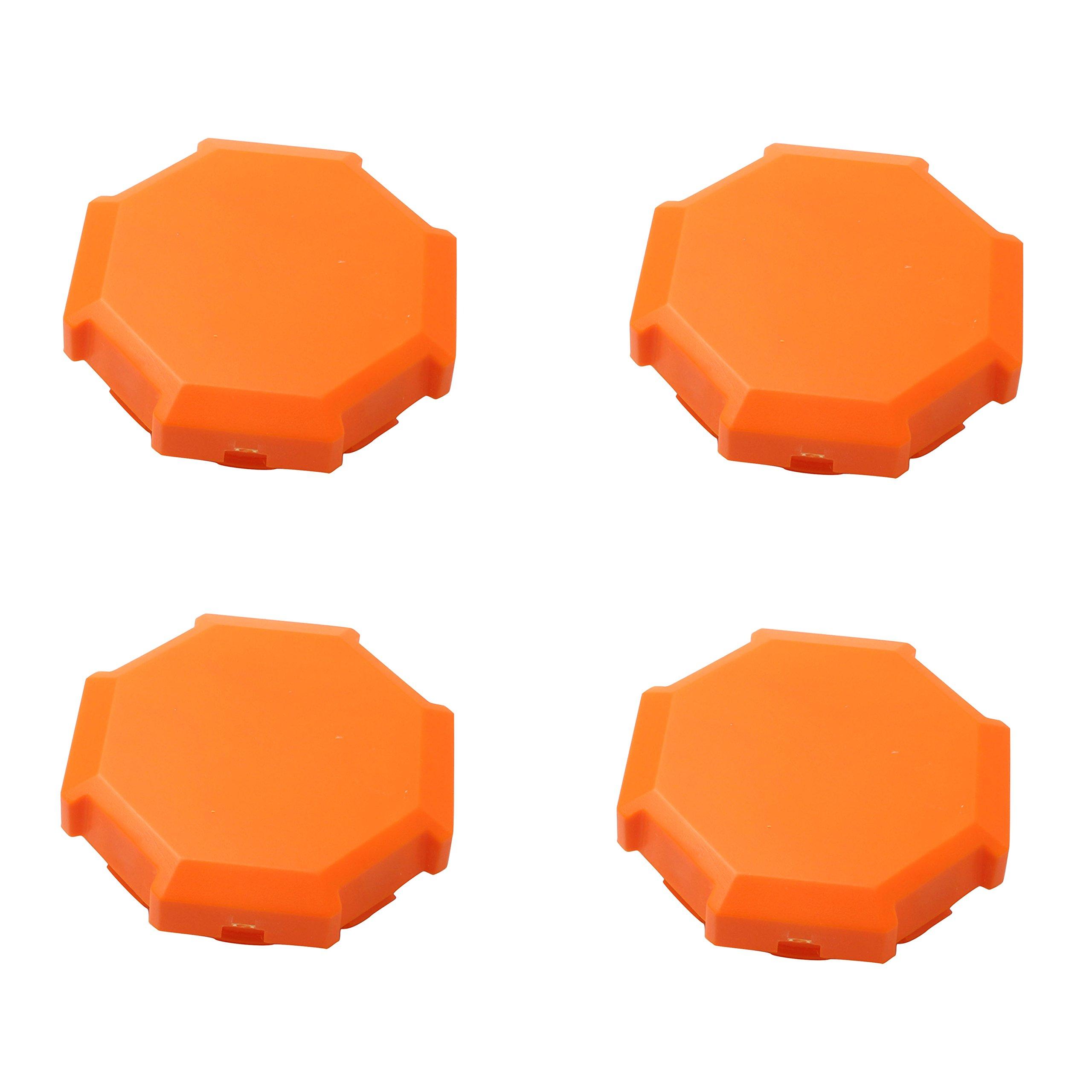 CPOWACE 4-Pack Hub Caps Wheel Center Caps For Polaris RZR 900 1000 XP 4 1522216-655 (Orange)
