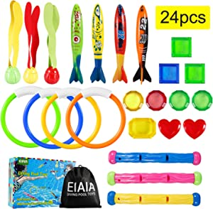 Sweepstakes: Underwater Swimming Diving Pool Toys - 24 Pcs Pool Diving...